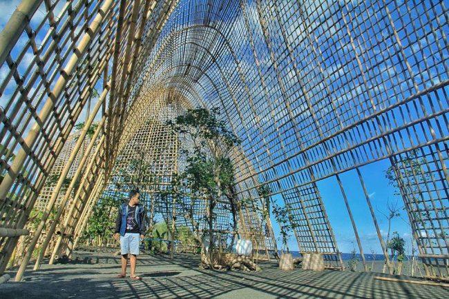 Wisata Rumah Bambu Pengalon via IG @uklamoyamalang