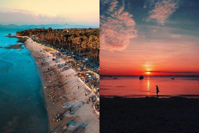 Wisata Pantai Oesapa via Ig @eryradixa (kiri), @arrierichardus (kanan)
