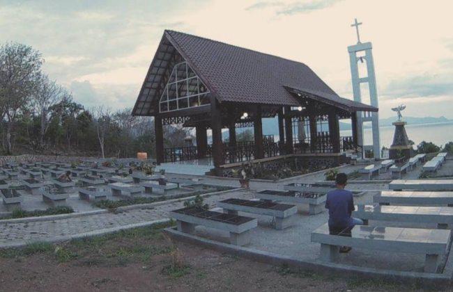 Wisata Taman Bukit Fatimah via IG @anowaterstone - Tempat Wisata Di Flores Timur