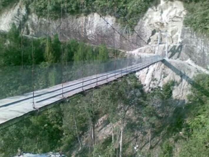 Jembatan Gantung Tornagodang - tempat wisata di Toba Samosir