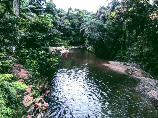 Sungai Saragi via IG @exploretobasa - tempat wisata di Toba Samosir