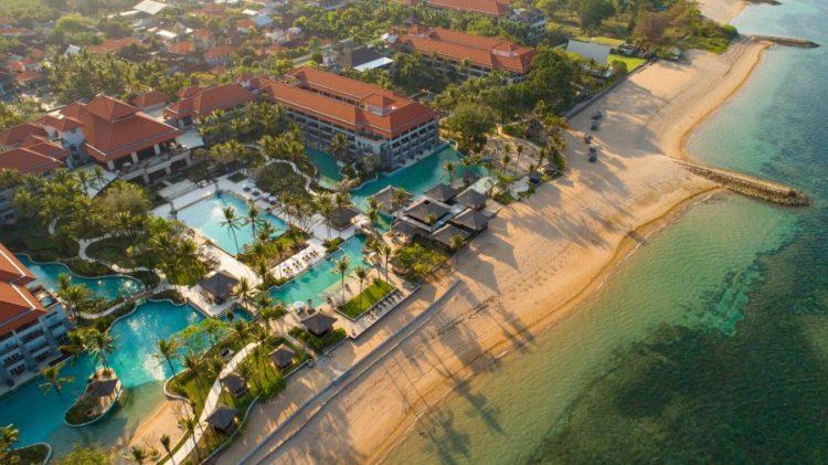 Aerial view Conrad Bali