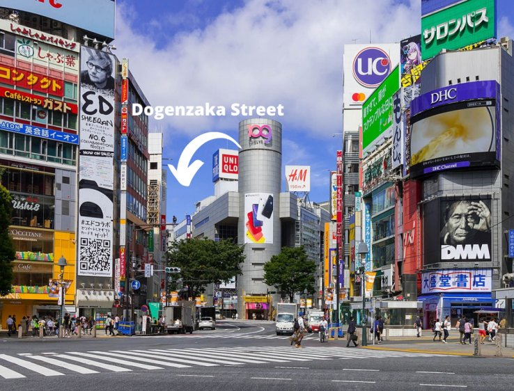 Dogenzaka Street via Japan Travel