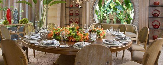 Private dinner area`