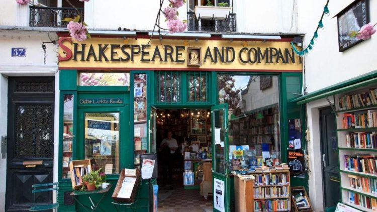 Shakespeare and Company Bookstore via BBC
