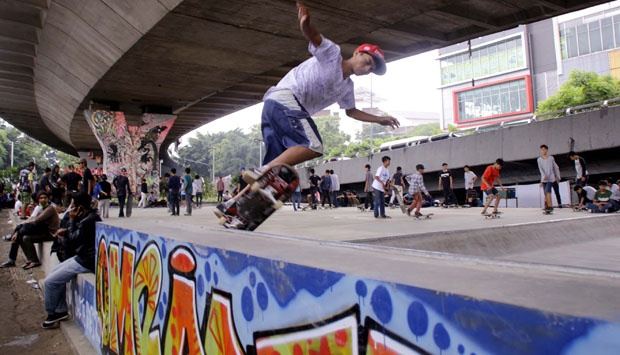 Taman Skateboard via Tempo