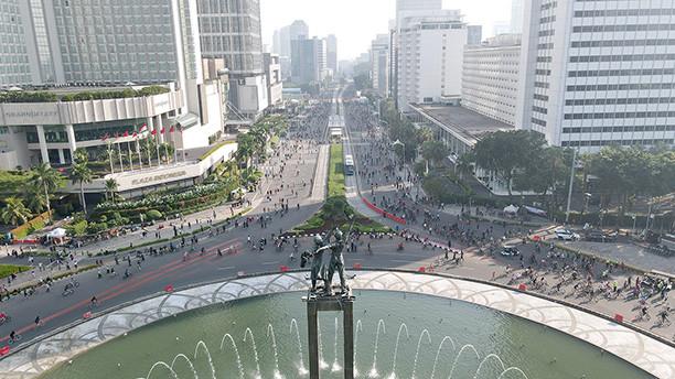 car free day via the Jakarta Post