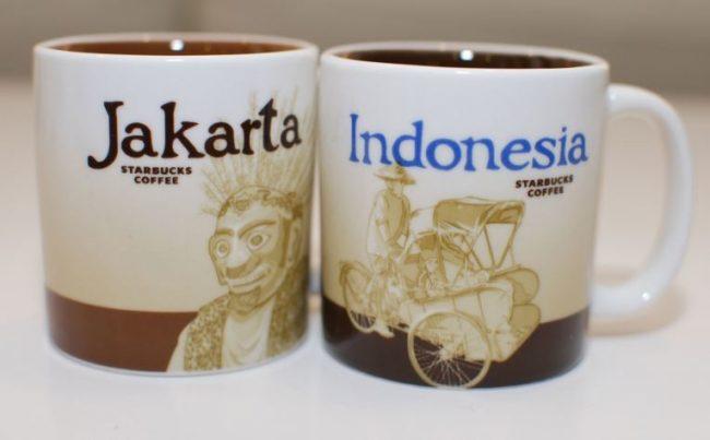 Mug dan Piring khas Jakarta