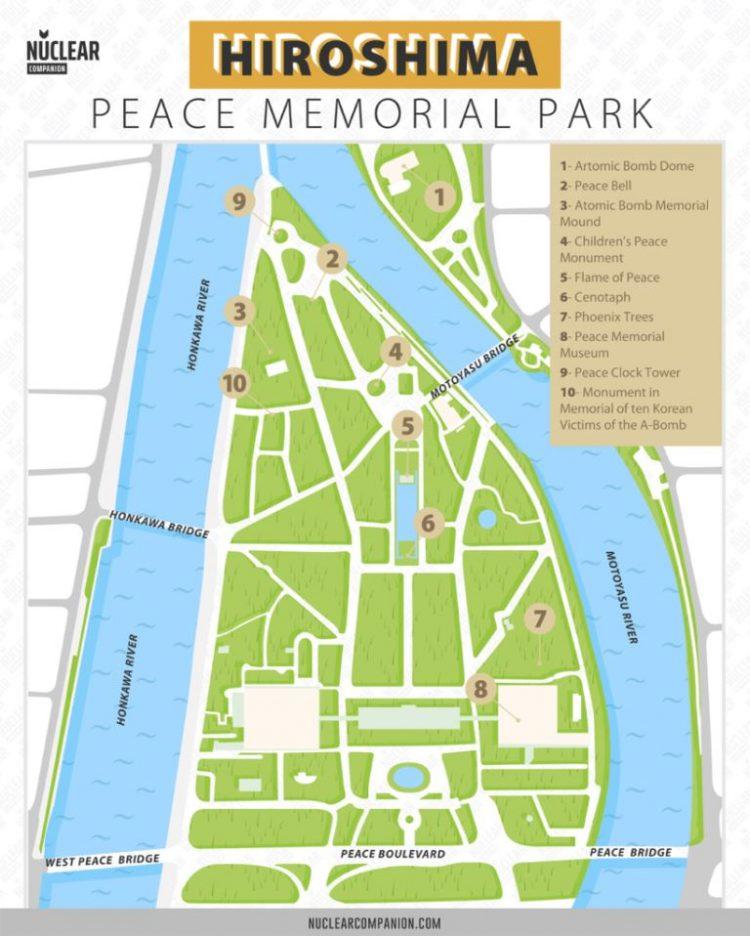 Peta Hiroshima Peace Memorial Park via Nuclearcompanion