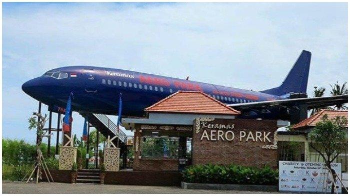 Restoran Keramas Aero Park mengandalkan rangka pesawat Boeing 737 seri 400 sebagai ruang makan utama Photo Tribunnews